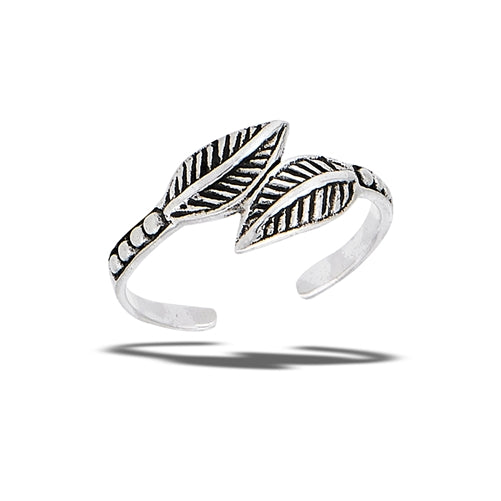 Double Leaves Toe Ring | Sterling Silver | Light Years Jewelry