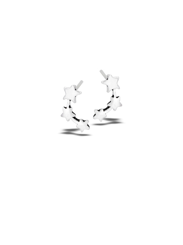 Triple Star Posts | Sterling Silver Stud Earrings | Light Years Jewelry