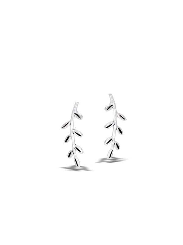 Leafy Vine Posts | Sterling Silver Stud Earrings | Light Years Jewelry