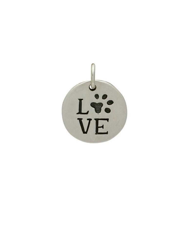 Love Paw Print Pendant Necklace | Sterling Silver Chain | Light Years