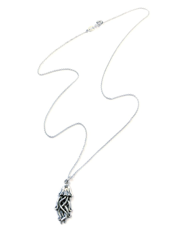 Jellyfish Charm Necklace | Sterling Silver Pendant Chain | Light Years