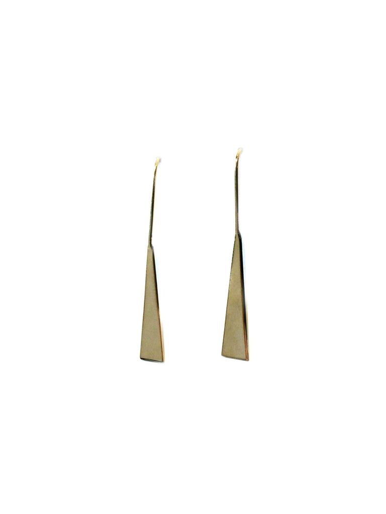 Elongated Triangle Ear Threads | Gold Vermeil Earrings | Light Years