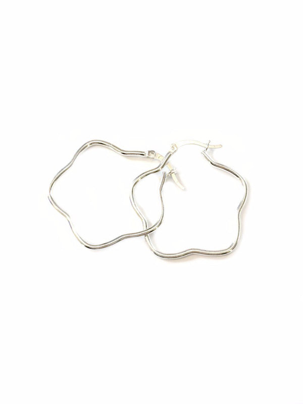 Silver Flower Hoops | Sterling Silver Earrings | Light Years Jewelry