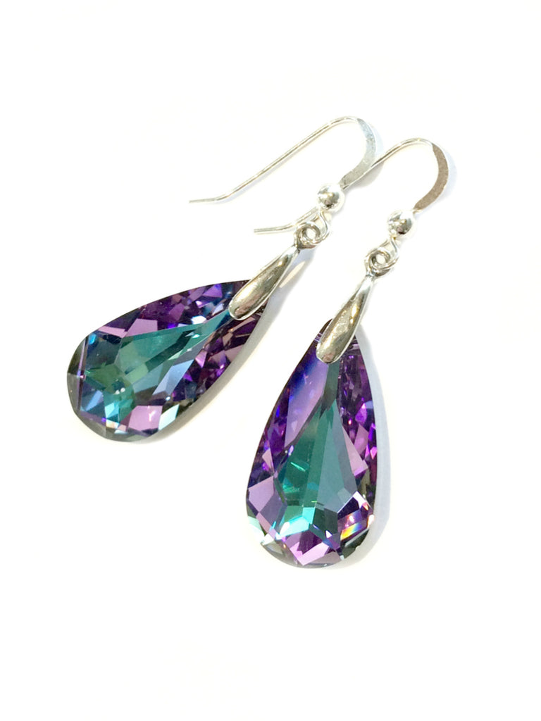 Purple Moondrop Dangle Earrings | Sterling Silver | Light Years Jewelry