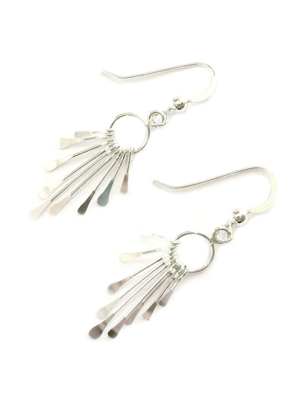 Paddle Fringe Dangles | Sterling Silver Earrings | Light Years Jewelry