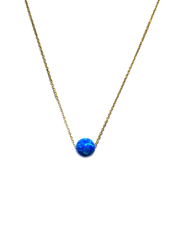 Blue Opal Ball Necklace | Sterling Silver Gold Vermeil | Light Years