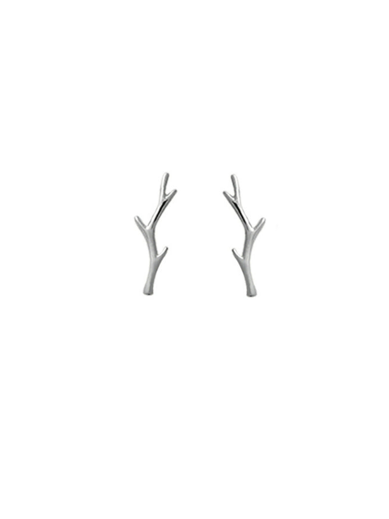 Twig Branch Posts | Sterling Silver Studs Earrings | Light Years Jewelry
