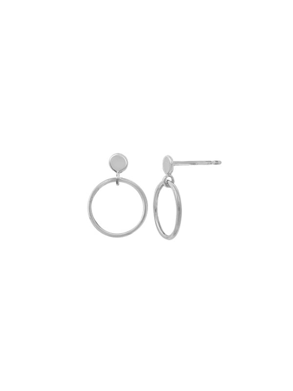 Open Ring Posts | Sterling Silver Studs Earrings | Light Years Jewelry