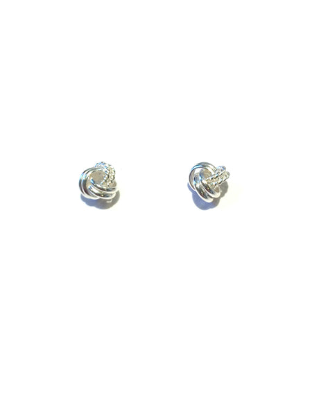 Rope Knot Posts | Sterling Silver Stud Earrings | Light Years Jewelry