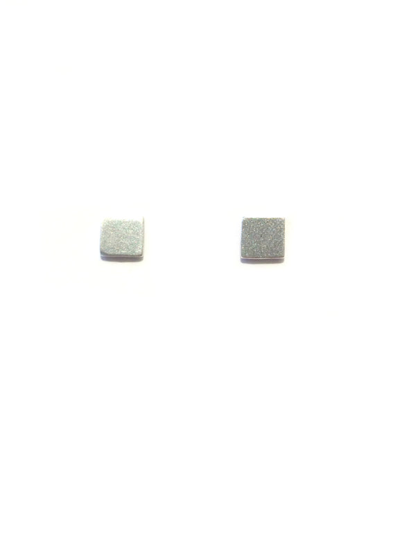 Matte Square Post Earrings | Sterling Silver Studs | Light Years Jewelry