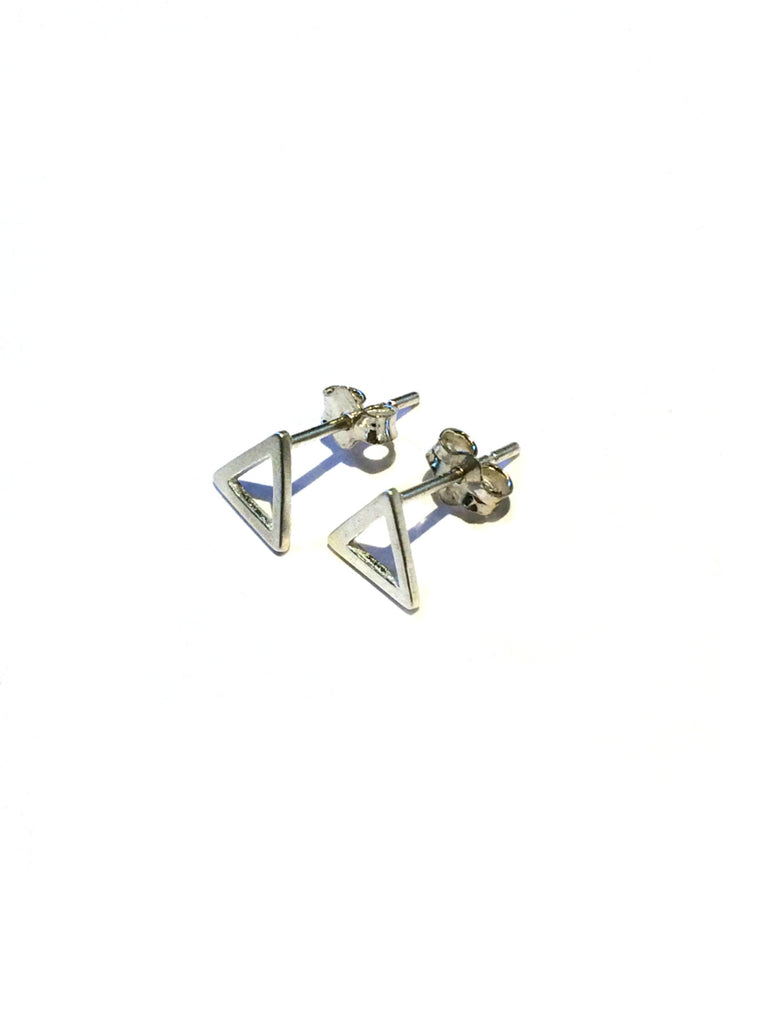 Open Triangle Posts | Sterling Silver Studs Earrings | Light Years