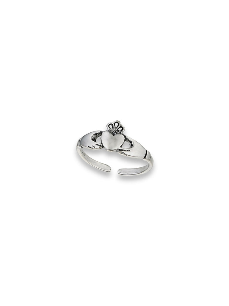 Claddaugh Adjustable Toe Ring | Sterling Silver Band | Light Years