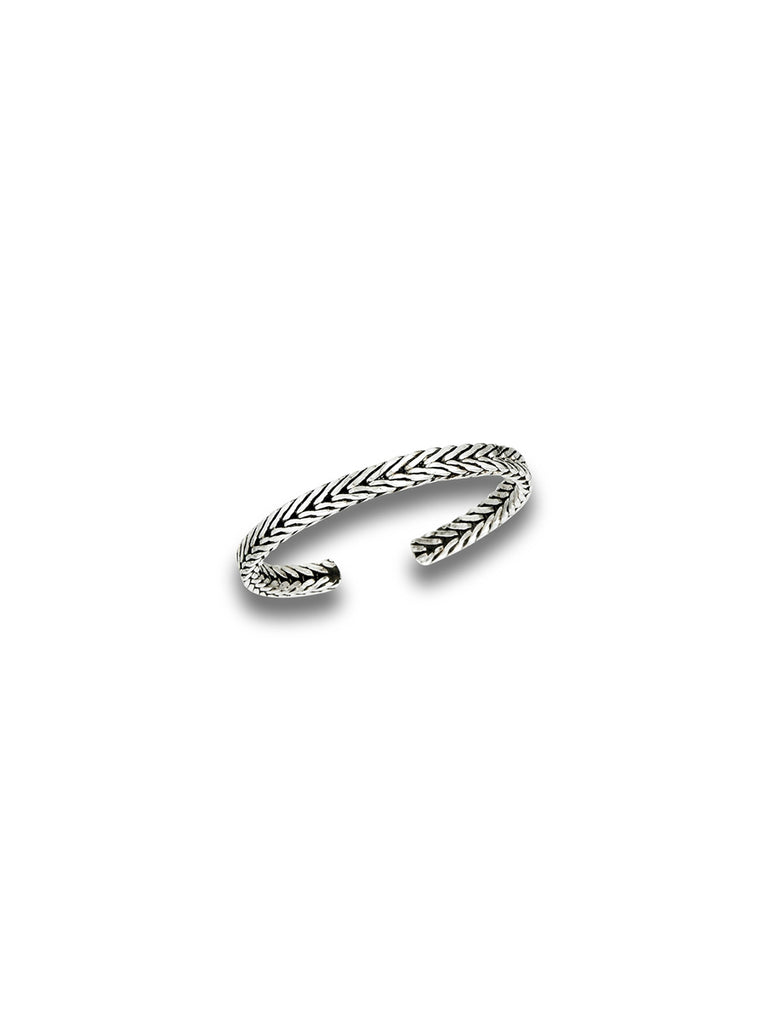 Braid Toe Ring | Adjustable Sterling Silver | Light Years Jewelry