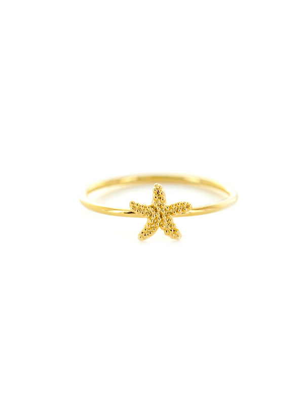 Golden Starfish Ring | Gold Plated Sizes 6 7 8 | Light Years Jewelry