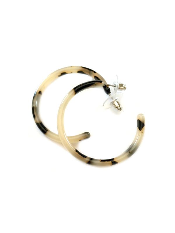 Tortoiseshell Hoops | Classic Post Earrings | Light Years Jewelry