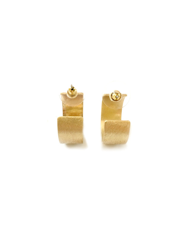 Wide Etched Posts Hoops | Gold Plated Studs Earrings | Light Years