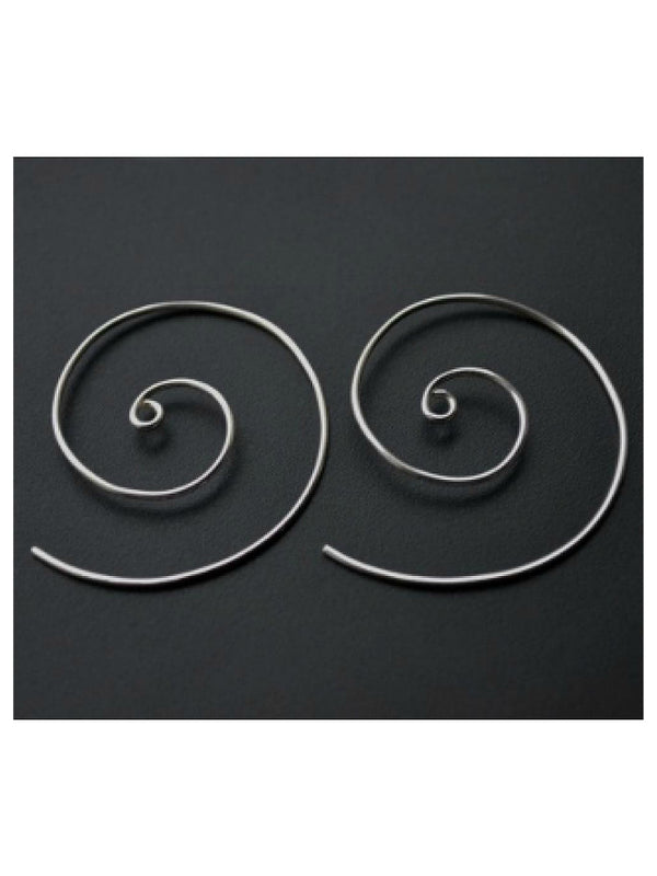 Large Spiral Hoop Earrings | Sterling Silver USA | Light Years Jewelry