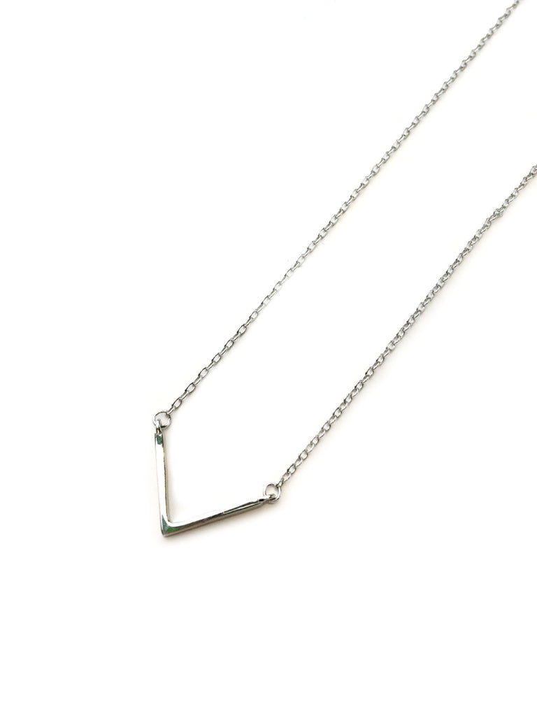 Simple Chevron Necklace | Sterling Silver Gold Vermeil | Light Years