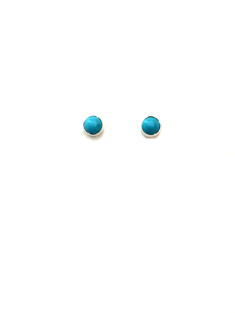 3mm Stone Studs | Turquoise | Sterling Silver Posts Earrings | Light Years Jewelry