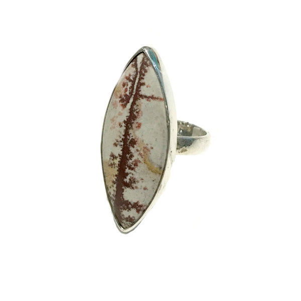 Coffee Bean Jasper Ring | Size 8 Sterling Silver | Light Years Jewelry