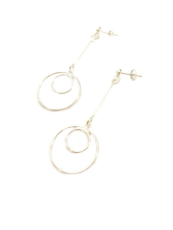 Long Silver Statement Earrings | Sterling Silver Posts | Light Years
