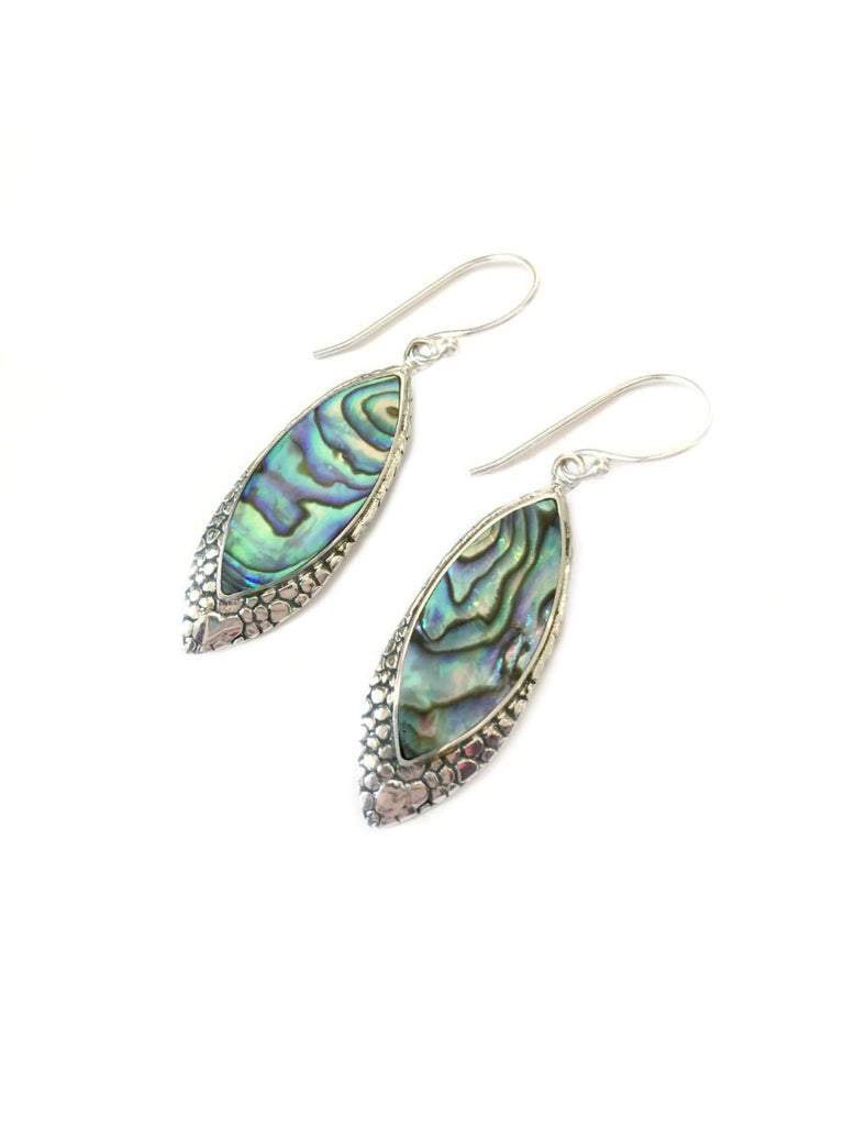 Bali Shell Dangles | Sterling Silver Earrings | Light Years Jewelry