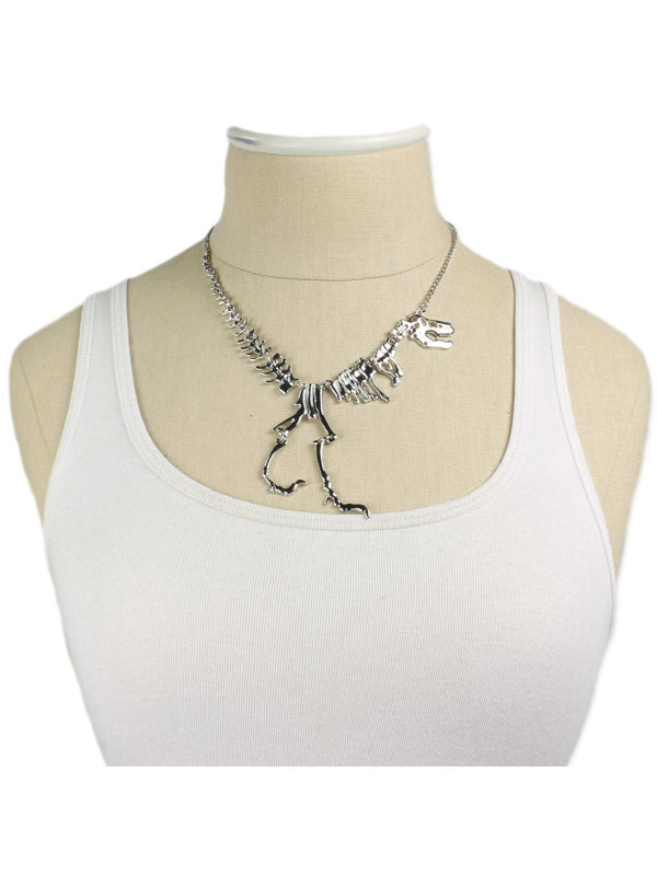 Articulated Dinosaur Statement Necklace | Silver Fashion | Light Years