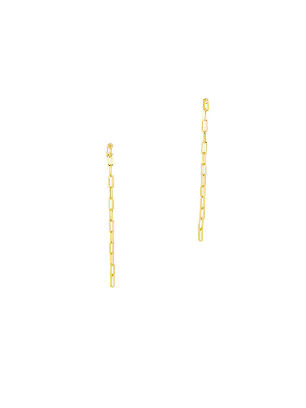 Chain Link Posts | Gold Plated Studs Earrings | Light Years Jewelry