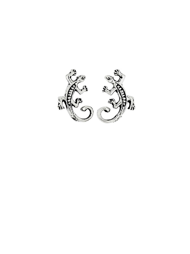 Curled Tail Lizard Posts | Sterling Silver Stud Earrings | Light Years
