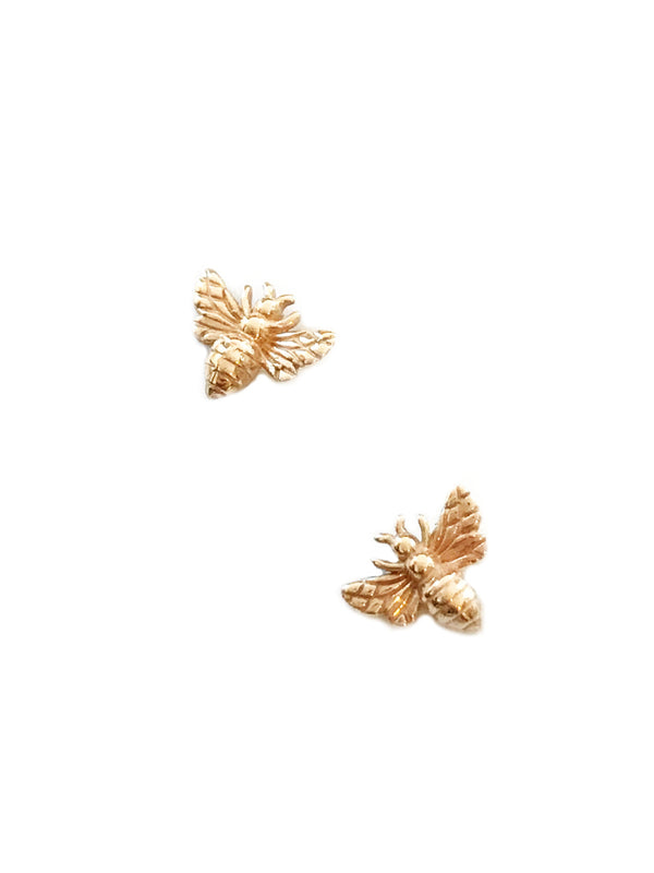 Bronze Honey Bee Posts | Sterling Silver Studs Earrings | Light Years