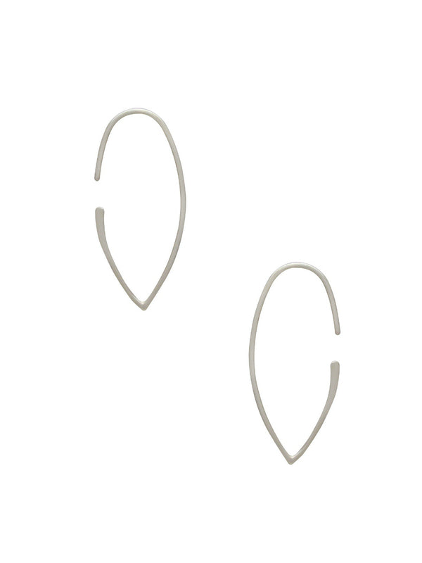 Minimalist Marquis Earrings | Sterling Silver | Light Years Jewelry