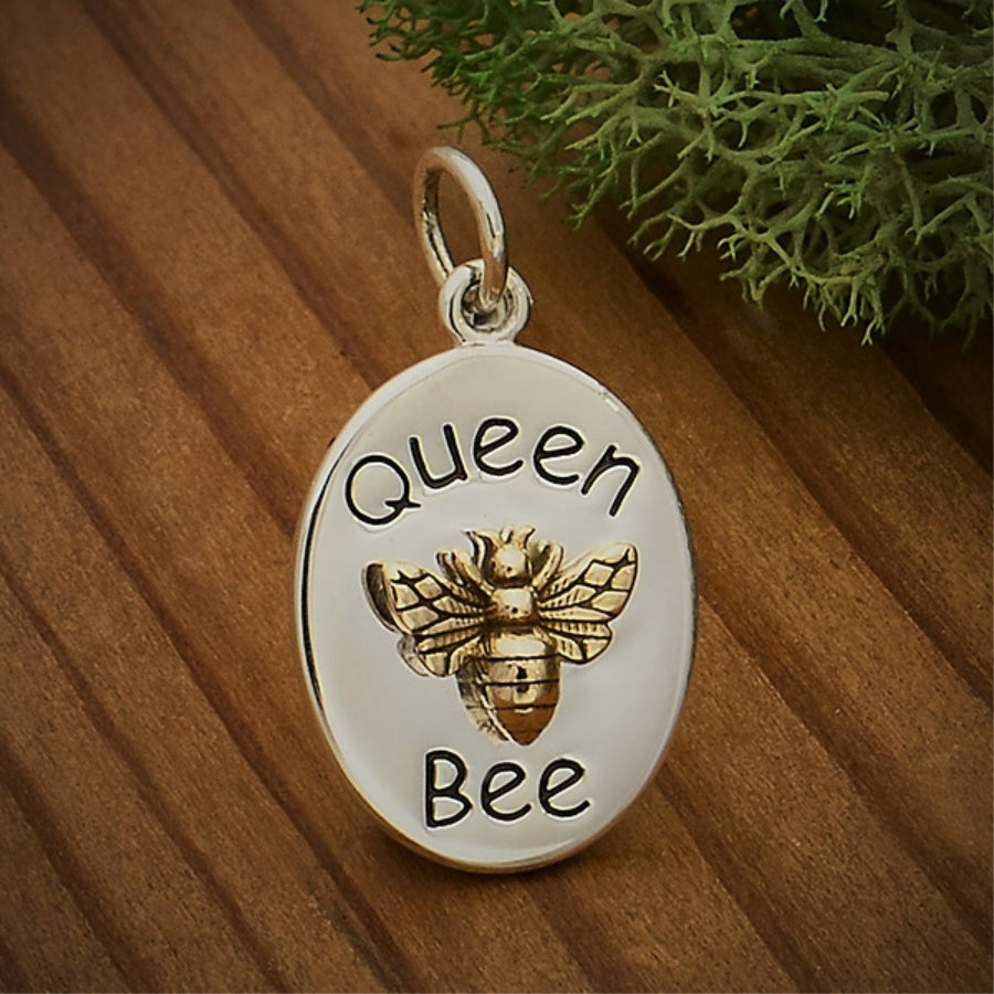 Queen Bee Necklace | Sterling Silver Pendant & Chain | Light Years
