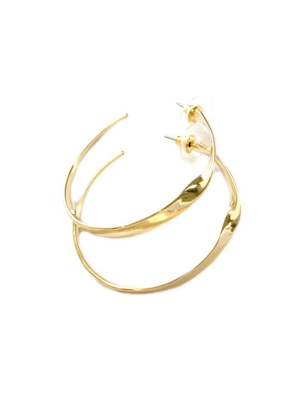 Large Twisted Hoops | Gold Silver Fashion Posts Earrings | Light Years