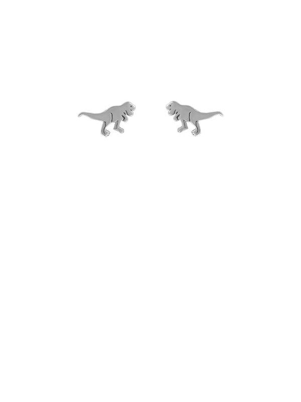 T Rex Posts | Sterling Silver Dinosaur Studs Earrings | Light Years