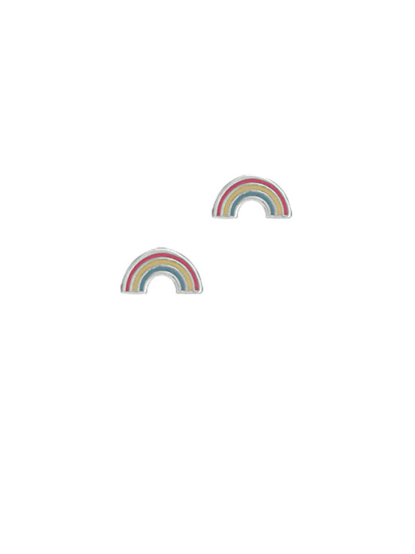 Rainbow Enamel Posts | Sterling Silver Stud Earrings | Light Years
