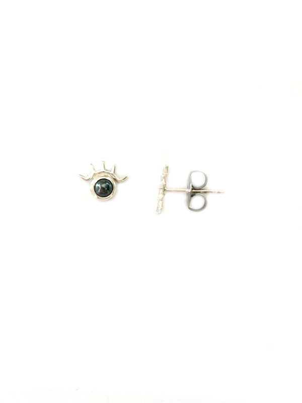 Winking Eye Posts | Sterling Silver Stud Earrings | Light Years Jewelry