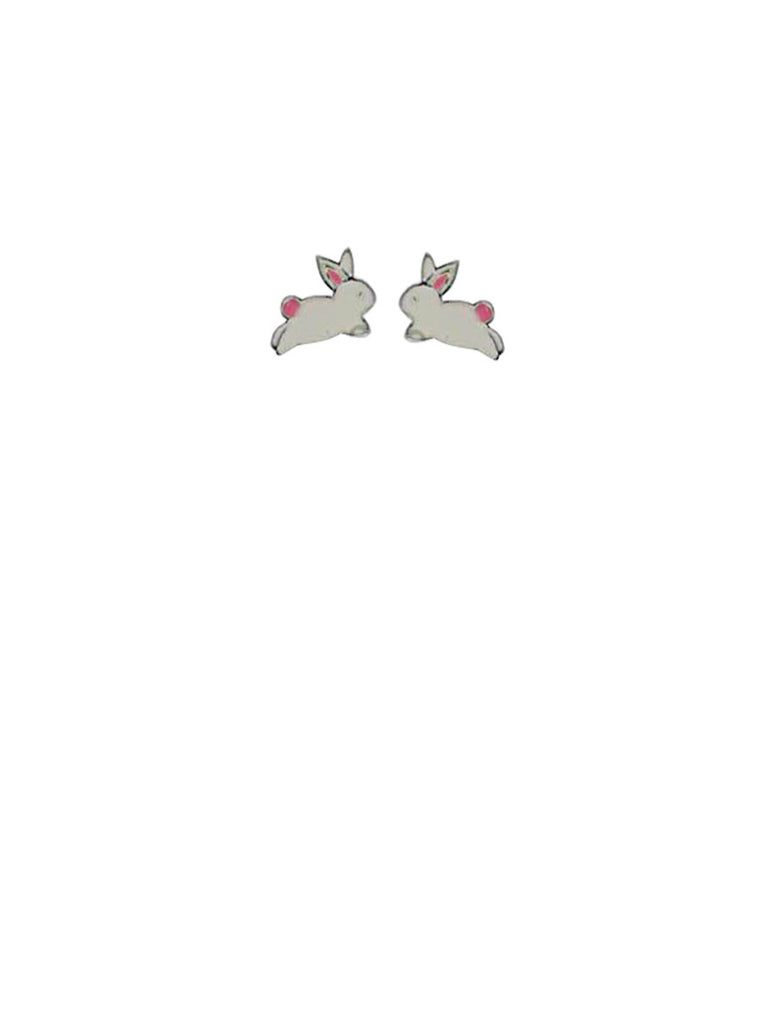 Enamel Bunny Rabbit Posts | Sterling Silver Stud Earrings | Light Years
