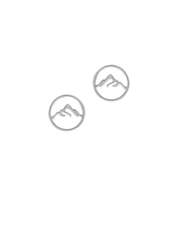 Mountain Range Posts | Sterling Silver Stud Earrings | Light Years