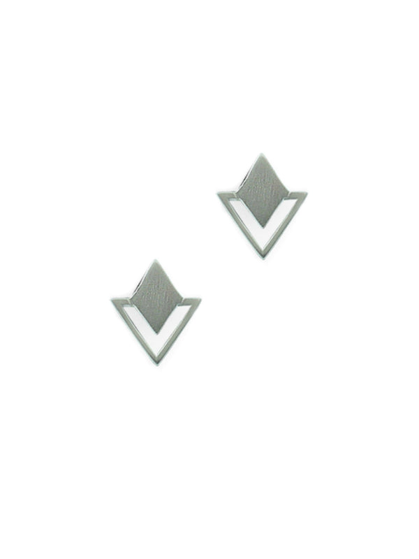 Diamond Shield Posts | Sterling Silver Stud Earrings | Light Years