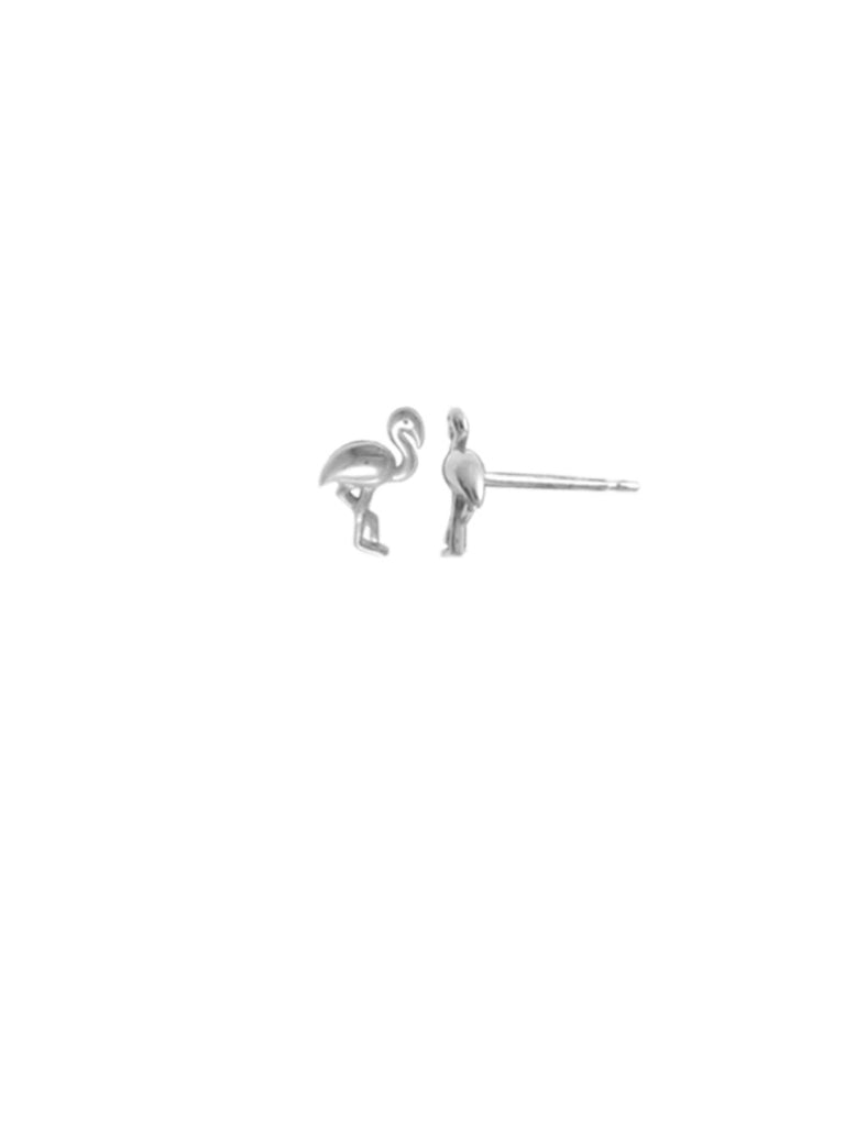 Silver Flamingo Posts | Sterling Stud Earrings | Light Years Jewelry