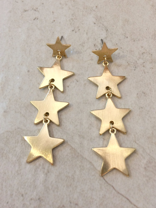 Gold Star Statement Post Earrings