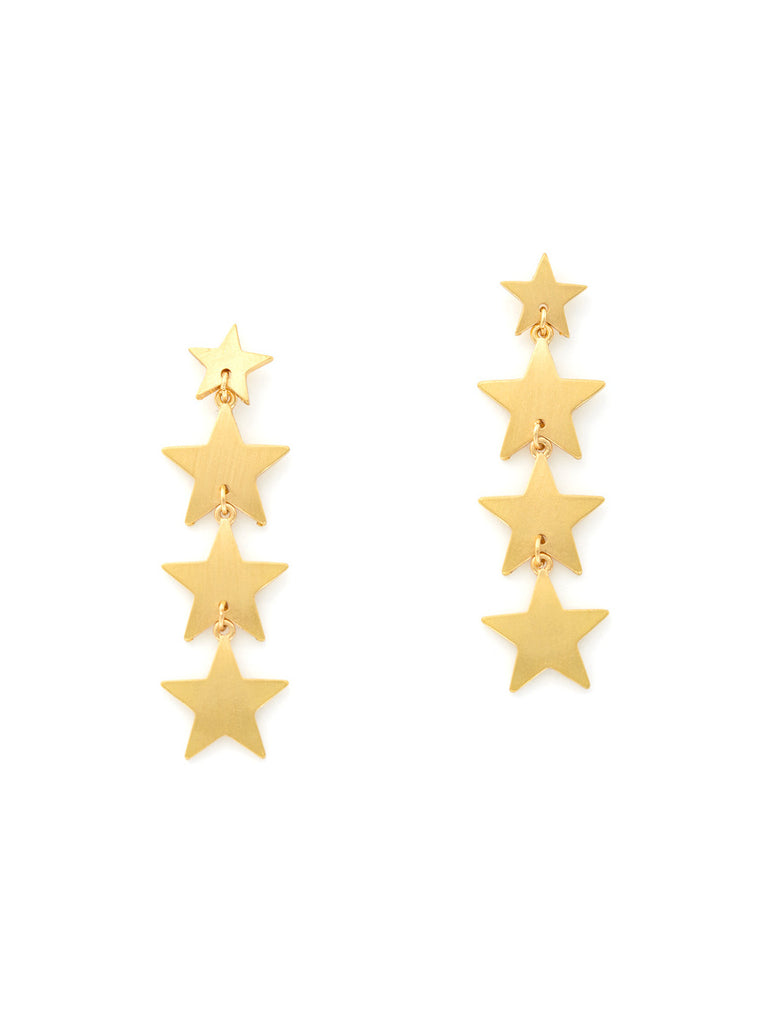 Gold Star Statement Post Earrings | Patriotic Celestial | Light Years