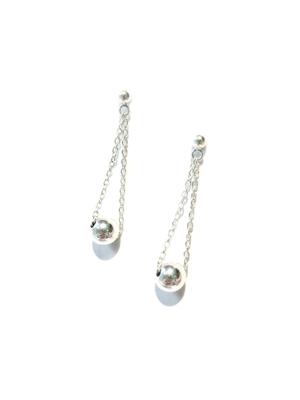 Ball & Chain Swing Posts | Sterling Silver Stud Earrings | Light Years