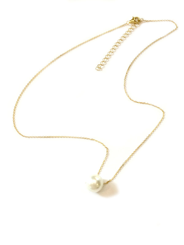Floating Pearl Necklace | Gold Vermeil Sterling Silver | Light Years