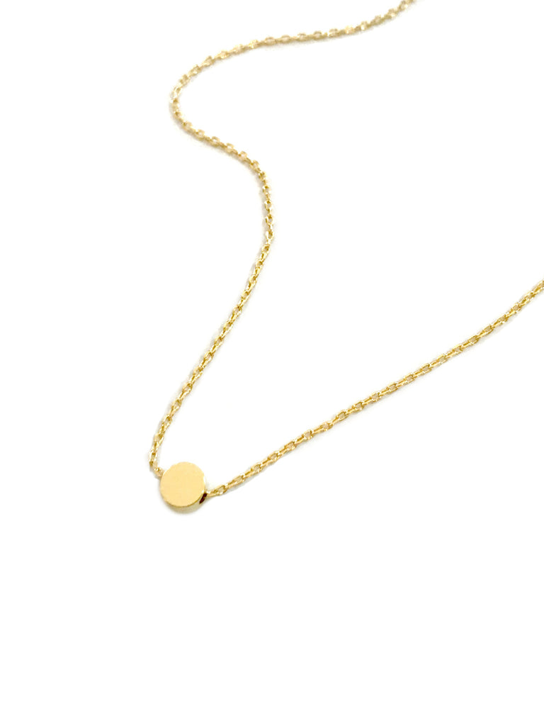 Simple Gold Dot Necklace | Gold Plated Chain Pendant | Light Years