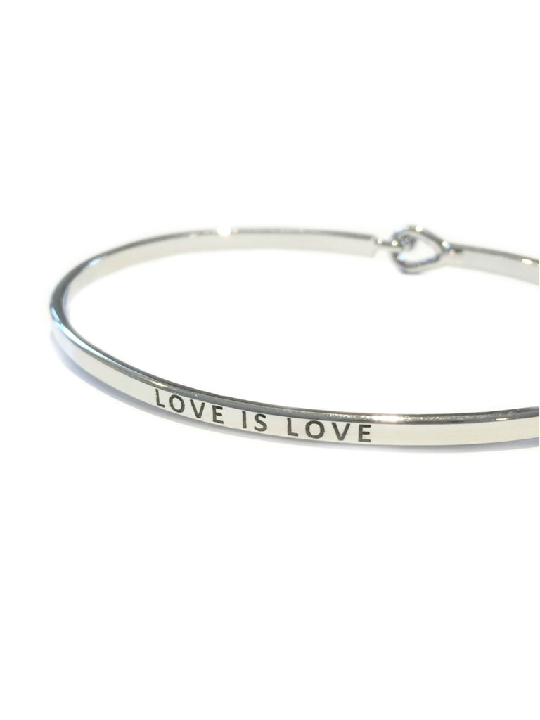 """Love is Love"" Stamped Bracelet 