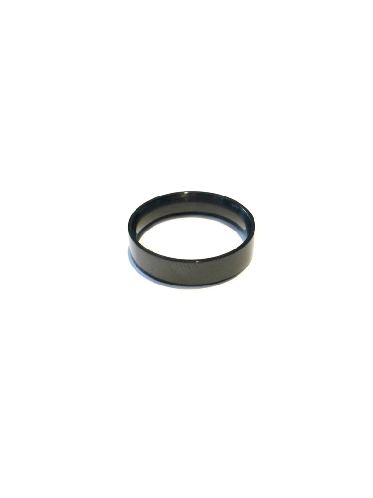 Black Steel Band Ring | Size 9 10 11 12 | Light Years Jewelry