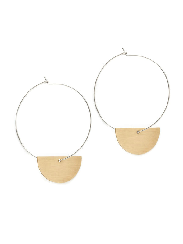 Luna Hoops | Sterling Silver California Earrings | Light Years Jewelry
