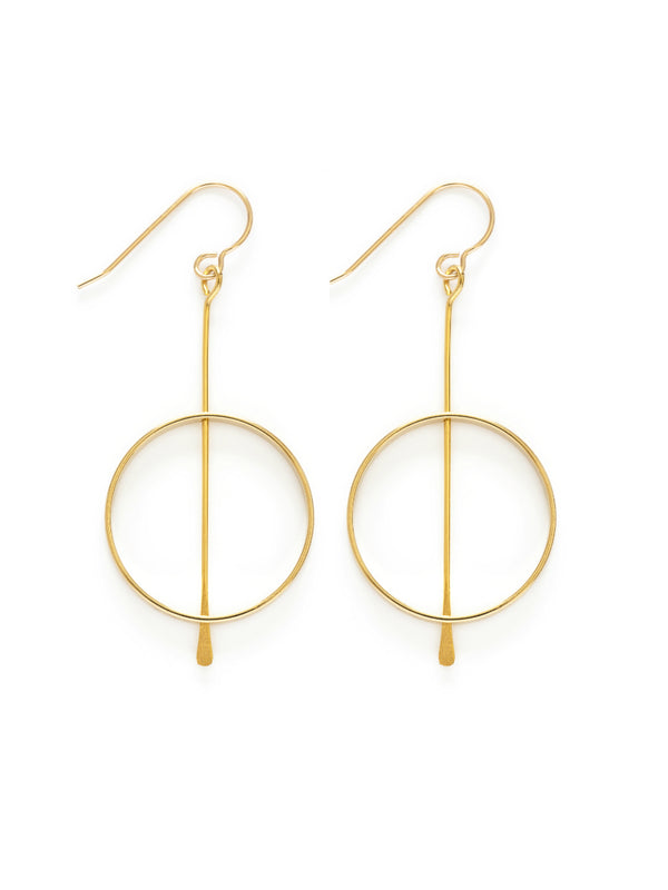 Kinetic Circle Earrings | 14kt Gold Filled Dangles | Light Years Jewelry