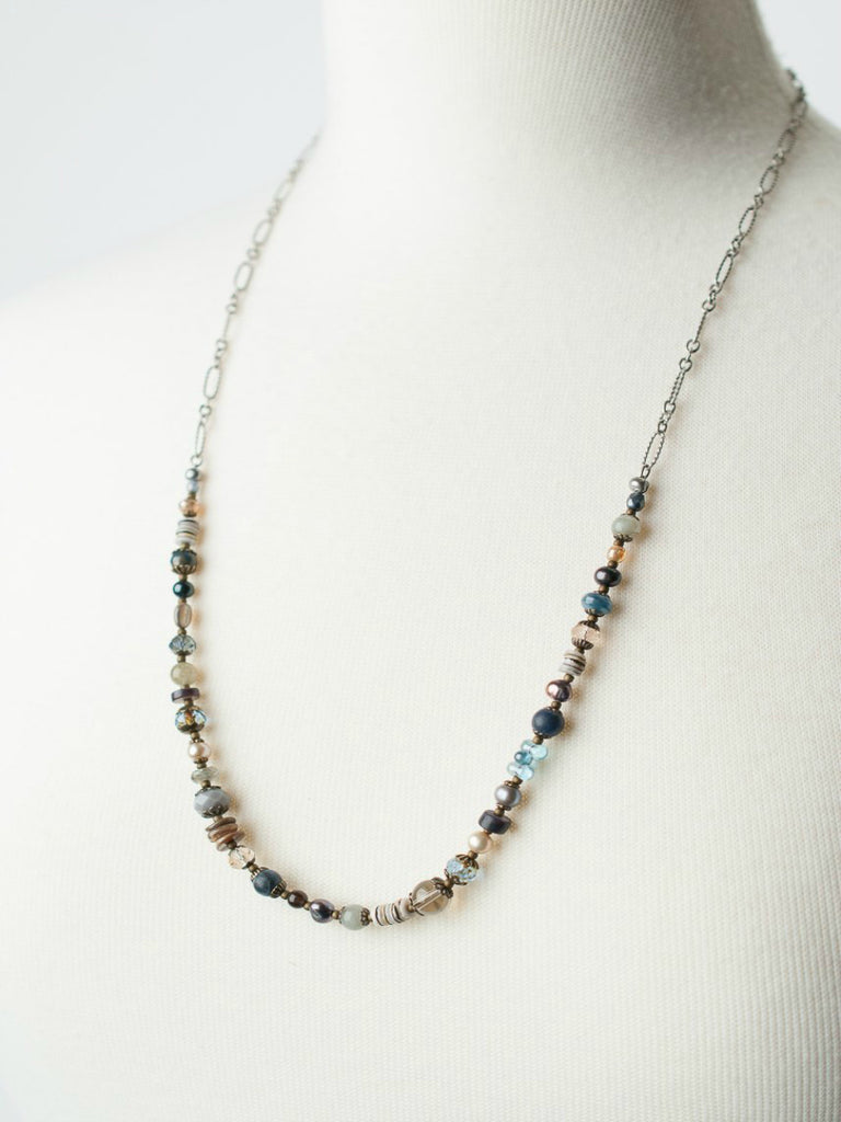 Claridad Collage Necklace | Handmade Beads Glass | Light Years Jewelry